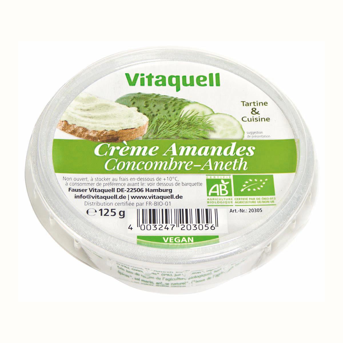 Crème Amandes Concombre-Aneth