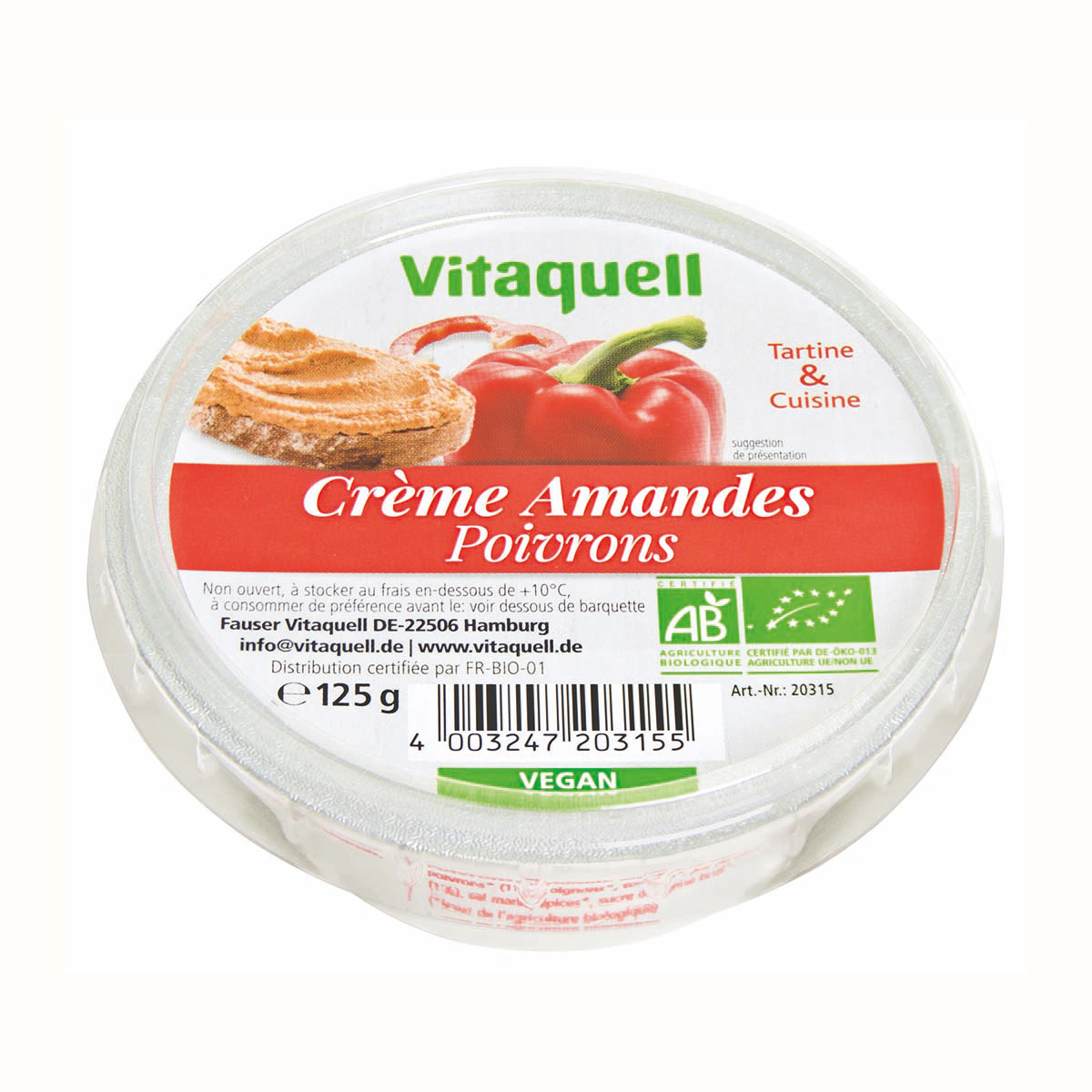 Crème Amandes Poivrons