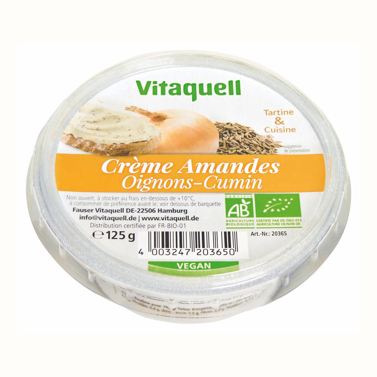 Crème Amandes Oignon-Cumin