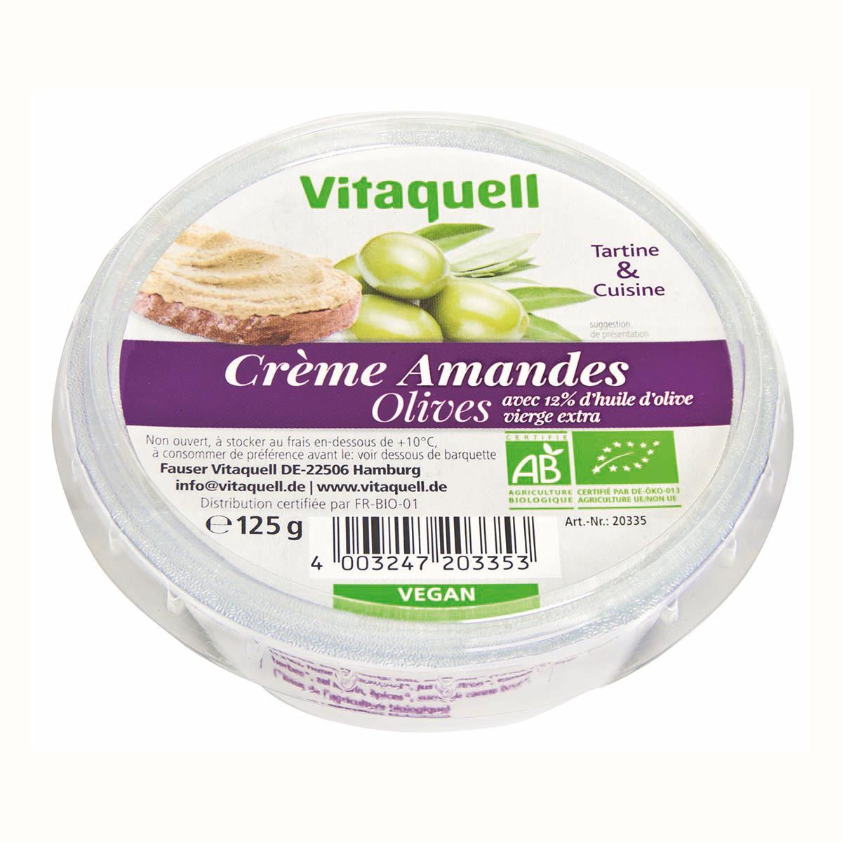 Crème Amandes Olives