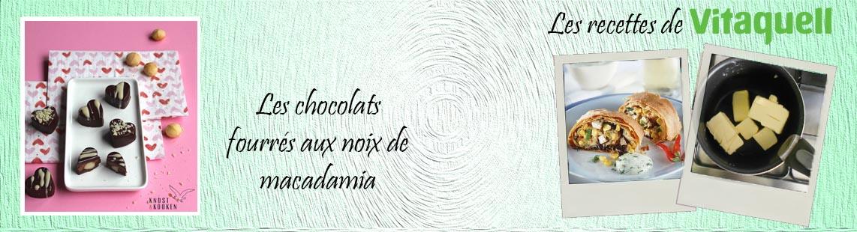 Les chocolats fourrés aux noix de macadamia